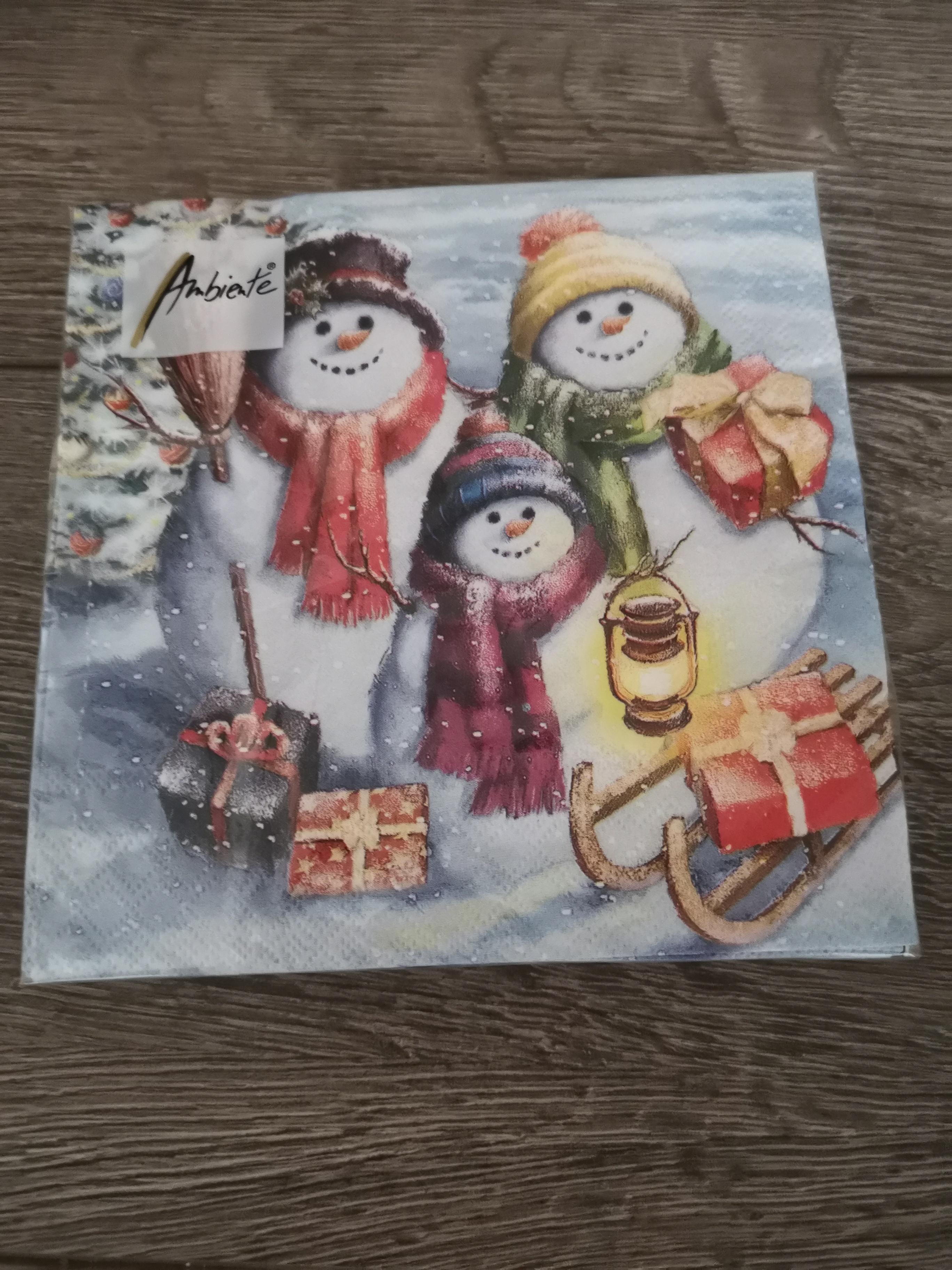 Servet Snowmen Family