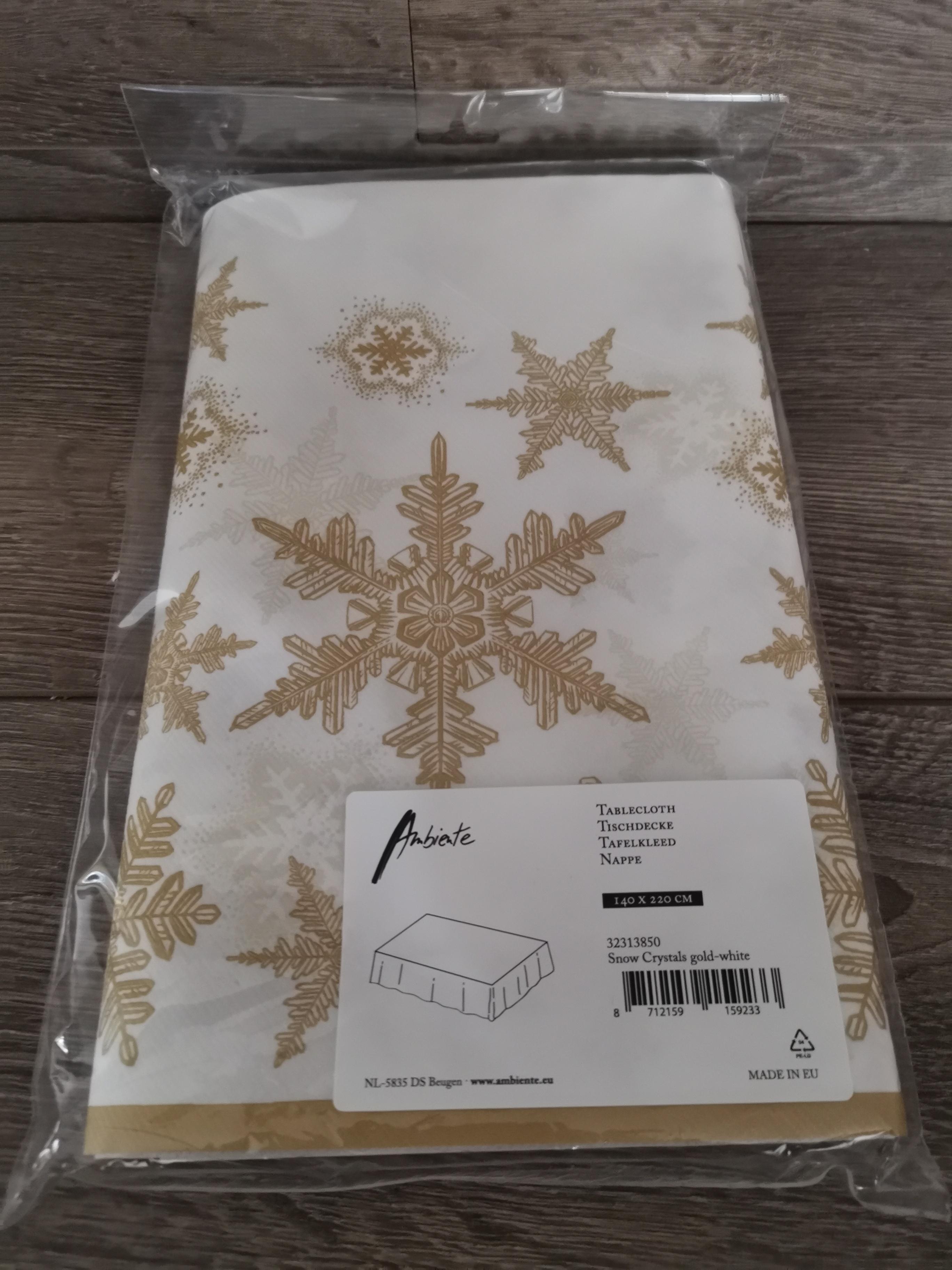 Tafelkleed Snow Crystals Gold