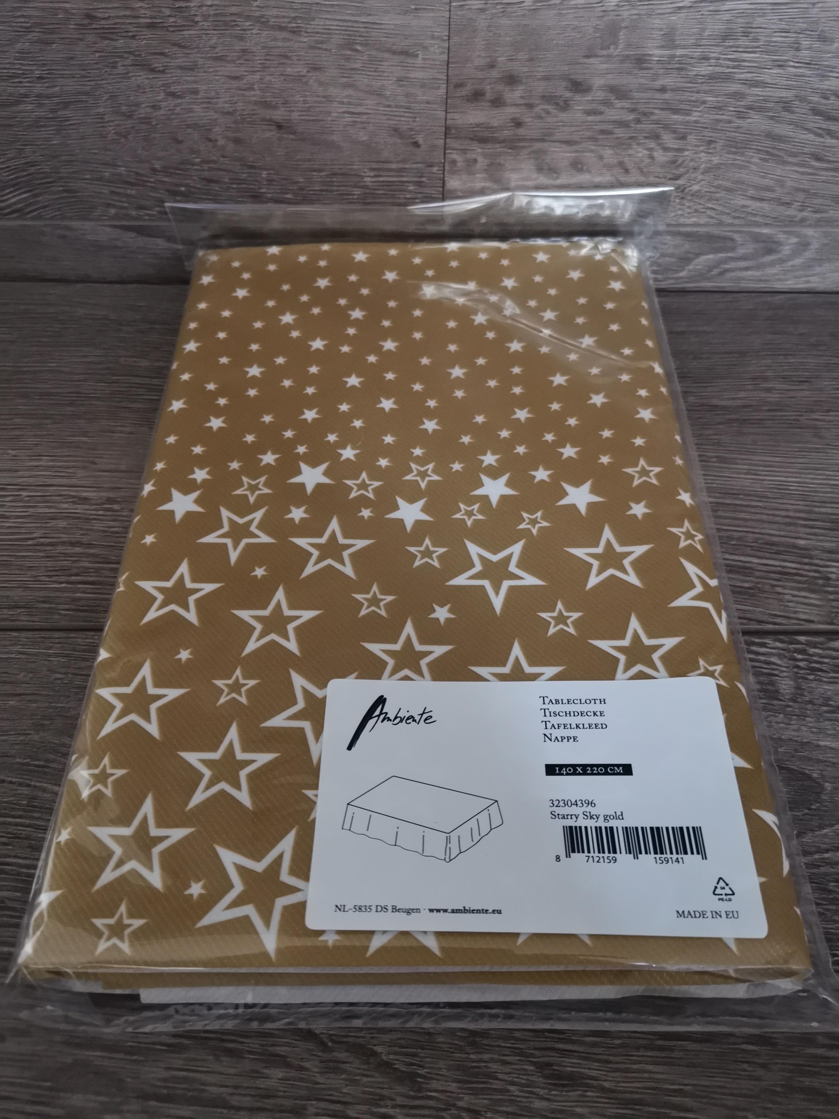 Tafelkleed Starry Sky Gold