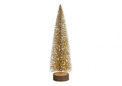 Kerstboom op boomstammetje
